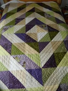 Half Square Triangles Quilt by beth