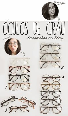 Óculos  armações baratinhas no Ebay! Armação De Óculos Feminino, Óculos De a8316e7ed0