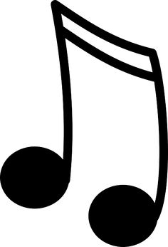 musical note 3 clip art site to print out free music notes for rh pinterest com Music Note Drawings Paper Outline