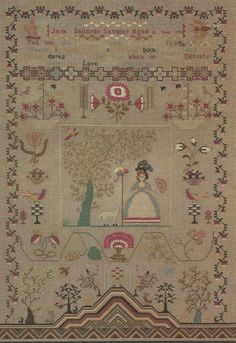 Jane Ballard - 1799, reproduction sampler by the Porcupine Collection.