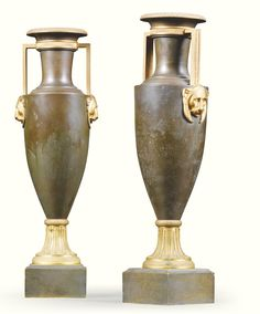 A pair of gilt-bronze and patinated bronze vases Restauration, circa 1825 Sotheby's