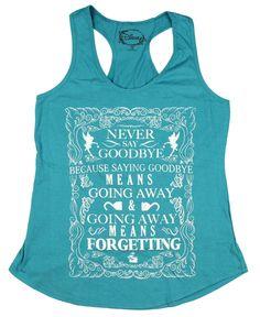 Disney Peter Pan Never Say Goodbye Girls Tank Top