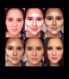 Make up tutorial for contouring and highlighting www.youniqueprodu… www.gordit… Make up tutorial for contouring and highlighting www.youniqueprodu… www. Beauty Make-up, Beauty Advice, Beauty Hacks, Hair Beauty, Fashion Beauty, Makeup Contouring, Contouring And Highlighting, Contouring Tutorial, Foundation Contouring