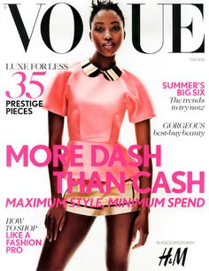 Top Model Nyasha Matahodze  featured in the May issue of British Vogue!