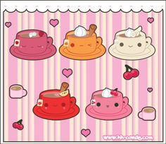 Fruit Flavored Teacup Designs by ~A-Little-Kitty on deviantART