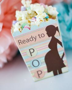 Click Pic for 28 Baby Shower Ideas for Girls - 'Ready to Pop' Corn | Baby Shower Themes for Girls