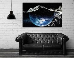 Abstract art print, surreal collage art, abstract wall art print, space wall art, mixed media collage art, Earth globe print - Water drops.  Digital collage art, this is a surreal print, made from juxtaposition of the Earth and water surface picture. I used also digital painting.  Printed by a professional printer on 250gr art paper with a glossy finish which gives a photo effect.  This original piece is a collage made by me. The title is: Water drops.  Digital collage art. 3 Dimensions…