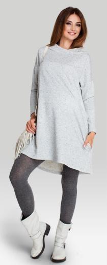 Angelo трикотажное платье свободного трапециевидного кроя для беременных и кормящих