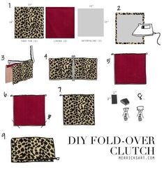Merrick's Art // Style + Sewing for the Everyday Girl : DIY LEOPARD FOLD OVER CLUTCH (TUTORIAL)
