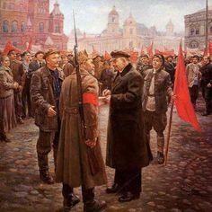 Lenin s/f Dmitry Arkadievich Nalbandian (Дмитрий Аркадьевич Налбандян. Communist Propaganda, Propaganda Art, Russian Revolution 1917, Bolshevik Revolution, Back In The Ussr, Social Realism, Soviet Art, Red Army, Russian Art