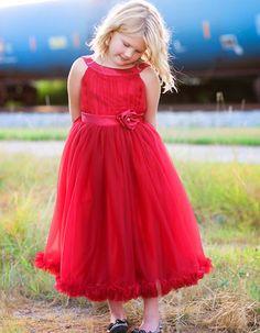 Red Rose Sleeveless Holiday Dress