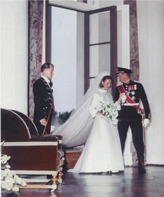The wedding of Crown Prince Harald and Sonja Haraldsen on 29th August 1968. They are now King and Queen of Norway