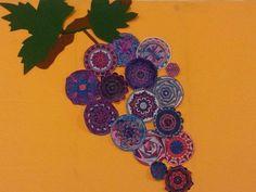 Óriási szőlő színes mandalákból
