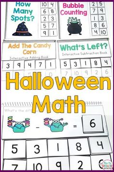 These Halloween themed interactive math books are just what you need to keep students focused, engaged and learning number concepts, addition and subtraction. These books are great for direct instruction, math review, math practice, work task boxes, math centers and early finishers. They are designed for special education teachers, self-contained programs, autism programs, life skills classrooms, remedial math, preschool, kindergarten and first grade classrooms.