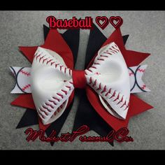 Hey, I found this really awesome Etsy listing at https://www.etsy.com/listing/185591008/baseball-hair-bow-real-ball-you-choose