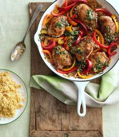 Spice up your weeknight dinner with this quick and easy chicken recipe.Recipe: Crispy Chicken Thighs... - Romulo Yanes
