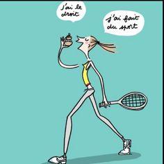 #autodérision  le sport et moi :-)     Les paresseuses