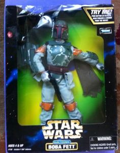 STAR WARS 12 INCH ACTION COLLECTION ELECTRONIC BOBA FETT BY KENNER (1998)