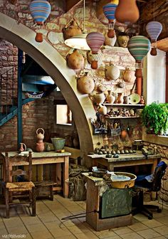 Ceramics atelier in Margarites village, Rethymnon countryside-Crete,Greece: