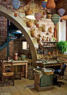 Ceramics atelier in Margarites village, Rethymnon countryside-Crete,Greece: