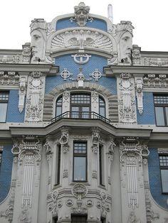 Casa de estilo Jugendstil.  Este nombre designa la variante del Art Nouveau que surgió en Alemania durante la última década del siglo XIX.