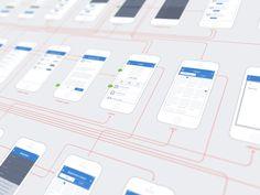 iPhone Wireframes by Lukas Bugla for Edmodo