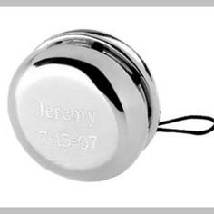 Personalized Silver Yo Yo Engraved Kids Gift Ring Bearer Gift Gifts - Old fashioned mischief in swanky silver plate. This toy-lovers dream can be personalized for a keepsake gift thats also a heck of a lot of fun. Kids Gifts, Gifts For Him, Wedding Favors For Men, Wedding Ideas, Wedding Stuff, Wedding Gifts, Wedding Inspiration, Trendy Wedding, Dream Wedding