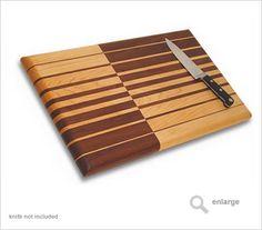 "Grain Type: flat grain   Board Dimensions: 13.5"" x 21.8"" x 1.5""   Edge profile: full roundover (bullnose)   Woods: Maple and Walnut"