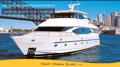 OVER 85 BOATS FOR CHARTER ON SYDNEY HARBOUR