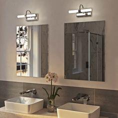 Led Lamps Lights & Lighting Post-modern Mirror Headlights Acrylic Creative Personality Showcase Bathroom Bathroom Dressing Table Horizontal Wall Lamp