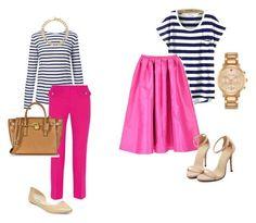 Hot Pink + Navy