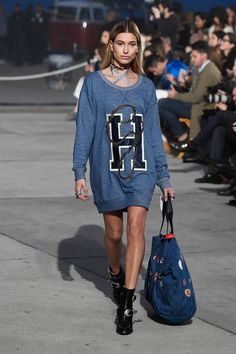 13492067 Gigi & Bella Hadid Lead Tommy Hilfiger's Spring Fashion Show!: Photo Gigi  Hadid is all smiles as she closes out the Tommy X Gigi collection during  the Tommy ...