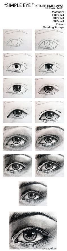 DazelTodd — Hey guys , Here is a time lapse of an #eye I #drew...