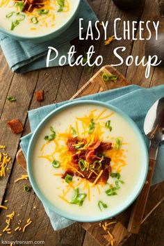 Business Cookware Ought To Be Sturdy And Sensible Creamy, Filling, And So Comforting You Need To Try This Loaded Potato Soup Tonight The Homesteading Hippy Via Homesteadhippy Cheesy Potato Soup, Loaded Baked Potato Soup, Cheesy Potatoes, Easy Soup Recipes, Real Food Recipes, Jewish Recipes, Dinner Recipes, Frugal Recipes, Chowder Recipes