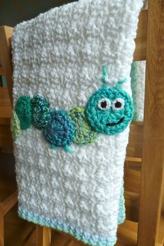 INSPIRATION - Crochet Caterpillar Baby Blanket - Madeline - how freaking cute is this? Eric Carle's very hungry caterpillar book and this blanket - a perfect gift for Baby Wyatt's birthday! Crochet Blanket Patterns, Baby Blanket Crochet, Crochet Stitches, Knitting Patterns, Knit Crochet, Ravelry Crochet, Crochet Blankets, Crochet Afghans, Knitting Blankets