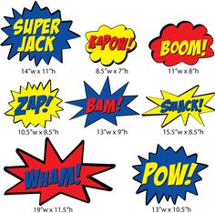 Comic Book Action Words. Imagine a fight room with these everywhere. And when people take pictures in my house, its gonna be EPIC!