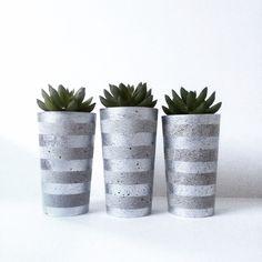 Shop: www.nothingbutvintage.com.au ➕ Urban Decor Homewares concrete succulent planters. Find us on Instagram. We wholesale & freight Australia wide. Geometric + Metallic silver.
