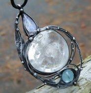 Amulet světla (Křišťál, Adulár, Akv.amarín) Pewter, Copper, Pendants, Bracelets, Silver, Jewelry, Tin, Jewlery, Jewerly