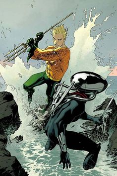 After Black Manta's attack, Atlanteans direct their violent rage toward the surface world! But will it bring two worlds to war? #AQUAMAN #3, available 7/20!