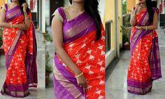 Pochampally ikkath silk sarees with running blouse Price:6999 Order what'sapp 9573737490