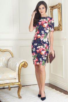 Allison Classic Floral Print Dress