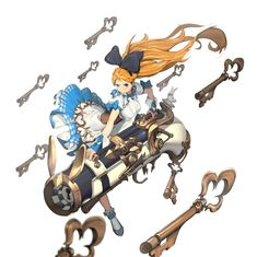 Alice in Wonderland anime Character Design References, Game Character, Character Concept, Concept Art, Fantasy Characters, Anime Characters, Theme Anime, Anime Weapons, Cool Artwork