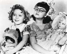 """Shirley Temple and Jane Withers in """"Bright Eyes"""", 1934."""
