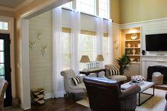 Bamboo shades and curtains