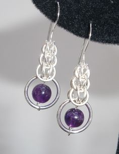 Amethyst and Sterling Persian Earrings by lanzacreations on Etsy