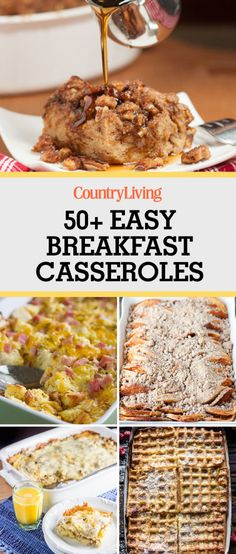 Save these breakfast casserole recipes for later by pinning this image and follow Country Living on Pinterest for more.