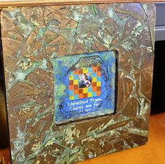Verday Frame with Cheryl and Megan Darrow- Students will learn various techniques using VerDay Paints and Patina and how to apply the paint to a wood frame. Watch the frame turn from Drab to Fab as the paint techniques create a swirl of beautiful color.  Add a special photo or mixed media collage and this would make a wonderful gift for Dad or Hubby for Father's Day or any day.