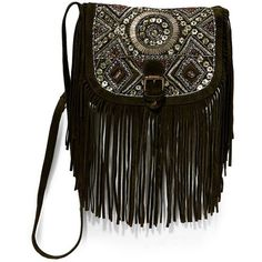Big Buddha Black Fringe Crossbody (260 ILS) ❤ liked on Polyvore featuring bags, handbags, shoulder bags, black, big buddha crossbody, big buddha purses, fringe crossbody purse, suede fringe purse and crossbody flap purse