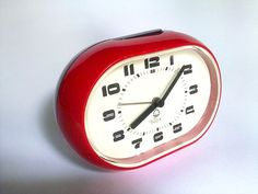 20% OFF Vintage Red Black Plastic Alarm by EasternEuropeVintage