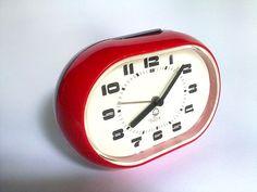 20% OFF Vintage Red Black Plastic Alarm by EasternEuropeVintage